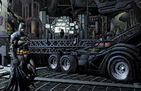 Batman in seiner Batcave