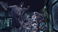 Batman kämpft gegen Mr. Freeze in Arkham City